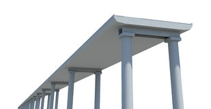Drawn bridge on white, bottom view Stock Image
