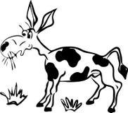 Drawn cartoon comical donkey Stock Photography