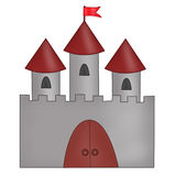 Drawn castle Royalty Free Stock Image