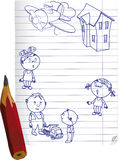 Drawn children Royalty Free Stock Image