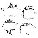 Drawn Christmas frame. Vector drawn Christmas frame in white background Stock Image