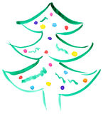 Drawn Christmas tree Royalty Free Stock Photo