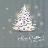 Drawn Christmas tree Stock Photos