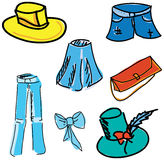 Drawn colored clothes. Vector illustration Stock Image