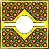 Drawn cubism ornamental frame Stock Image