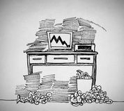 Drawn of a desk Stock Photography