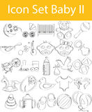 Drawn Doodle Lined Icon Set Baby II. With 25 icons for the creative use in graphic design Royalty Free Stock Photography