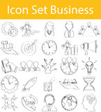 Drawn Doodle Lined Icon Set Business Stock Photography