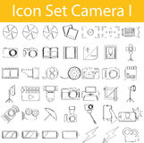 Drawn Doodle Lined Icon Set Camera I Stock Photo