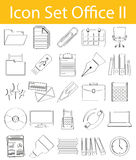 Drawn Doodle Lined Icon Set Office II royalty free illustration