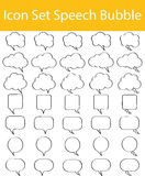 Drawn Doodle Lined Icon Set Speech Bubble Stock Photos