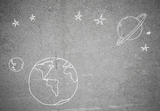 Drawn Earth planet Royalty Free Stock Photography