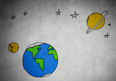 Drawn Earth planet Stock Photos