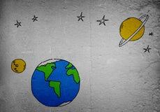 Drawn Earth planet Stock Photo