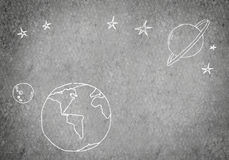 Drawn Earth planet Royalty Free Stock Photo