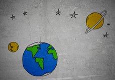 Drawn Earth planet Stock Photos