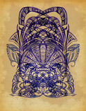 The drawn elements of decorative pattern Royalty Free Stock Images