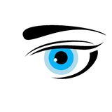 Drawn eye of blue color Stock Images