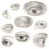 Drawn eyes Royalty Free Stock Photos