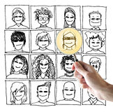 Drawn faces Royalty Free Stock Photos