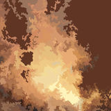 Drawn fire blast. On the brown background Royalty Free Stock Images