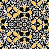 Bold hand drawn floral quilt. Vector pattern seamless background. Symmetry geometric abstract illustration. Trendy retro quilted. Drawn floral quilt. Vector vector illustration