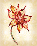 The drawn flower Royalty Free Stock Photos