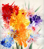 Drawn flowers Royalty Free Stock Image