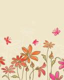 Drawn flowers Stock Photos