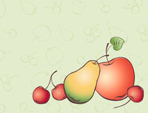 Drawn fruits Royalty Free Stock Image