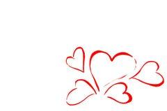 Drawn Happy Valentines Heart Stock Photos