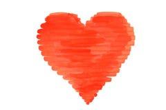 Drawn Happy Valentines Heart Royalty Free Stock Photo