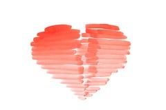 Drawn Happy Valentines Heart Royalty Free Stock Photos