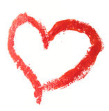Drawn heart Stock Photography