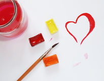 Drawn heart Stock Images
