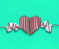 Drawn heart line Stock Photo