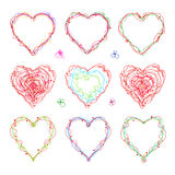 The drawn  heart  for  Mother`s Day, Valentine`s Day or weddings Royalty Free Stock Images