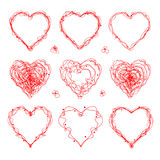 The drawn  heart  for  Mother`s Day, Valentine`s Day or weddings Stock Image