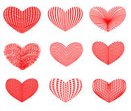 Drawn hearts Royalty Free Stock Photos