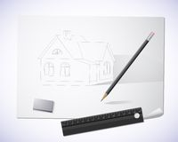 Drawn house Stock Image