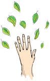 Drawn human hand Royalty Free Stock Images