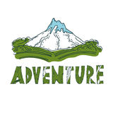 Drawn labels for adventure themes. Vector Stock Images