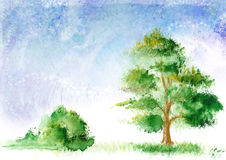 Drawn landscape Royalty Free Stock Photography
