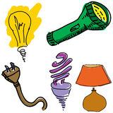Drawn light equipment Stock Photos