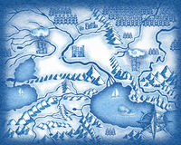 Drawn map Royalty Free Stock Photography