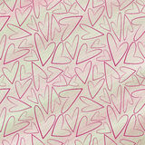 Drawn pastel pink background with hearts. Royalty Free Stock Photo