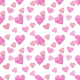 The drawn pattern. Happy Valentines Day card. Royalty Free Stock Photo