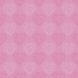 The drawn pattern. Happy Valentines Day card. Royalty Free Stock Image