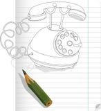 Drawn phone Royalty Free Stock Photo