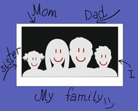 Drawn photo of a family Royalty Free Stock Photos